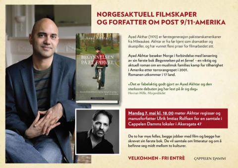 Møte med Ayad Akthar, i samtale med Ulrik Imtiaz Rolfsen