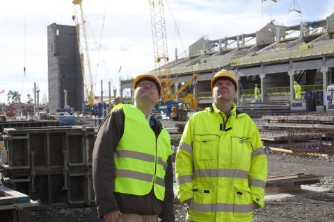 Dematek levererar mekaniseringen till det rörliga taket på Stockholmsarenan