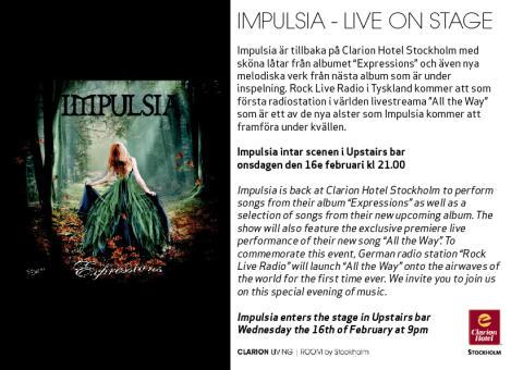 Impulsia - Live på Clarion Hotel Stockholm