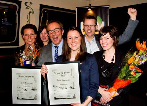 Framgångslagen vinner Stora pr-priset 2012
