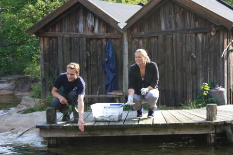 Anja Pärson inviger Skansens säldammar, Weber sponsrar