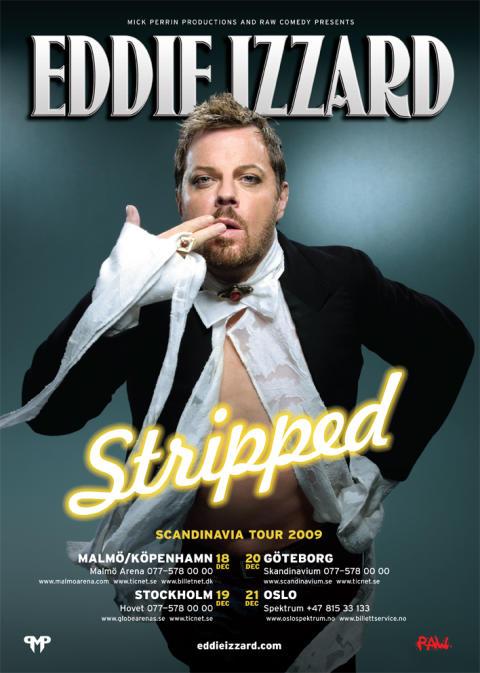 Eddie Izzard till Skandinavien
