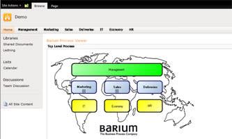 Barium lanserar processbaserat ledningssystem för SharePoint