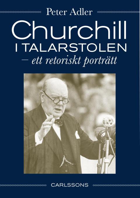 Omslag Churchill i talarstolen