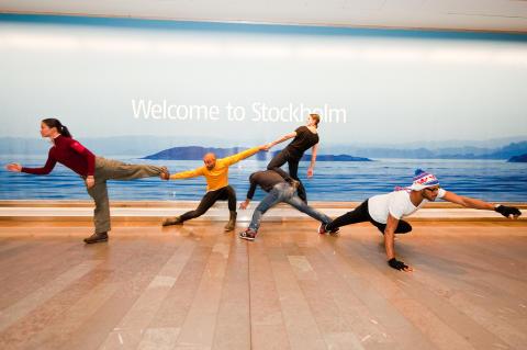 Cullbergbaletten dansar på Arlanda
