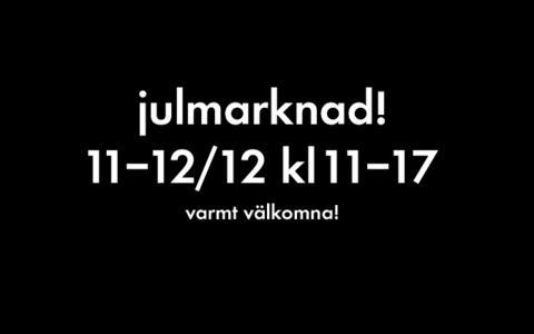 Beckmans Designhögskolas Julmarknad 11-12 december