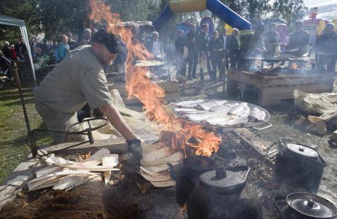 Vildmarkstältet under Matfesten i Skellefteå