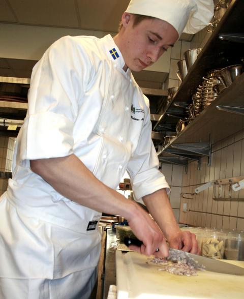 Mattias Hansson tävlar i matlagning
