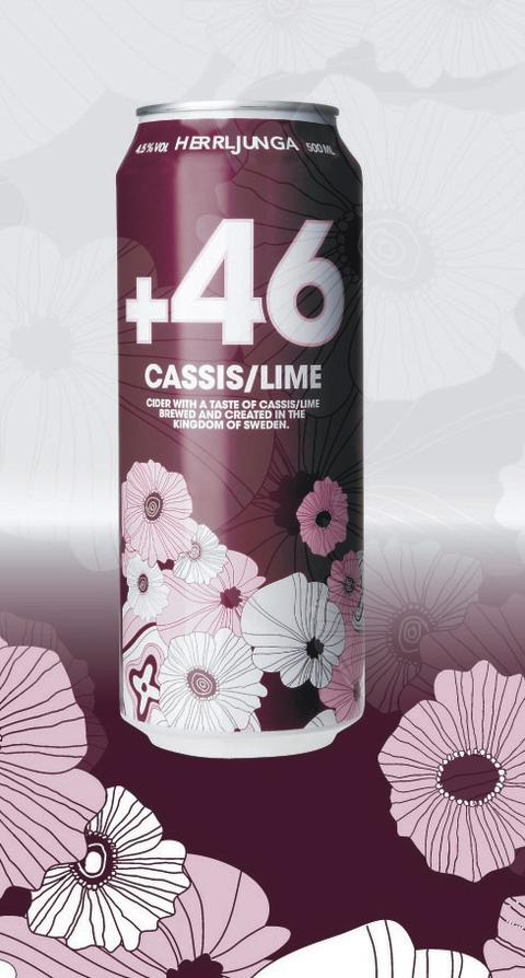 +46 Cassis/lime Cider 500 ml