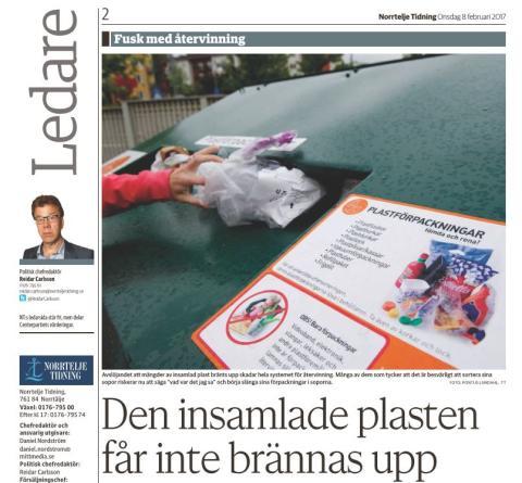 Swerec-saken:   Ingen konsekvenser for sortering av norsk plastemballasje