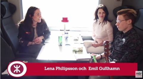 Lena Philipsson gästar MTR Express talkshow På tåget med Tilde
