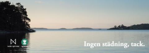 Nordic Light Hotel - Välj bort städning till förmån för Östersjön.