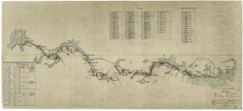 Kart over Nordlandsbanen Riksarkivet: RAFA_2188:Hg:L0001_Fauske