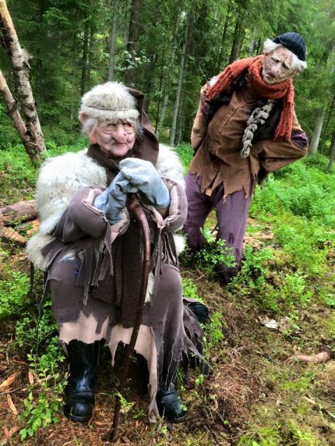 Troll i skogen på Sagolandet Tomteland