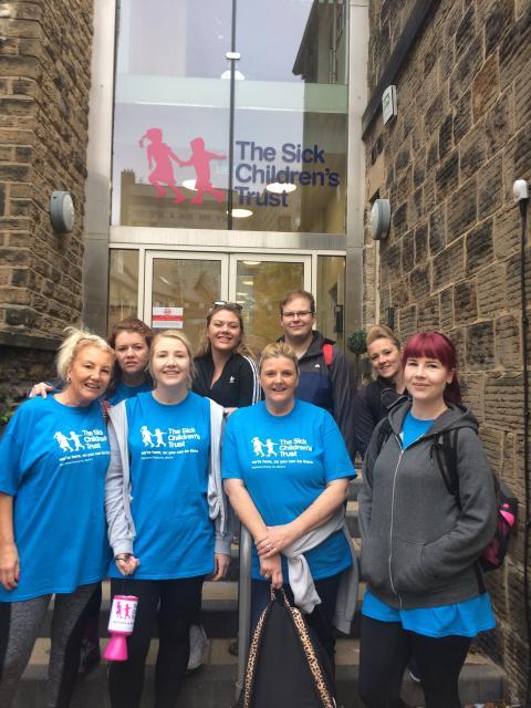 Mum treks 23 miles to raise money for The Sick Children's Trust