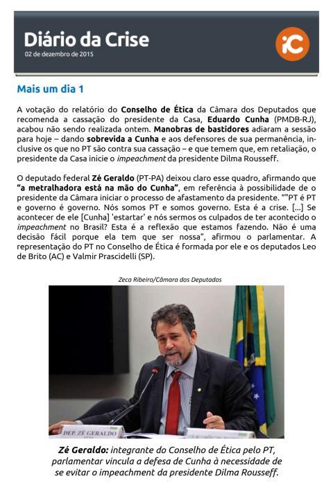 Diário da Crise - 02.12.2015