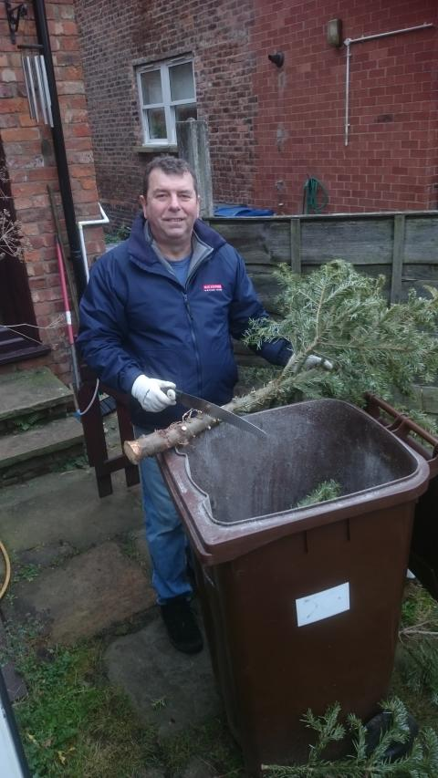 Give your Christmas tree a recycled new home