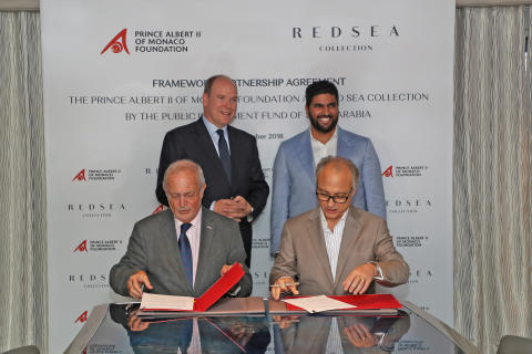 Red Sea Collection - Monaco Yacht Show: Red Sea Collection by The Public Investment Fund of The Kingdom of Saudi Arabia and Prince Albert II of Monaco Foundation sign a Framework Agreement on shared sustainability and marine conservation aims