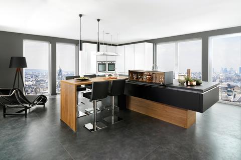 Schmidt køkken moderne egetræ mørkt