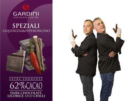 Sommaren tillhör Italienska chokladmästarna Gardini:  Del 1 av 5 – mörk choklad med chili/lakrits