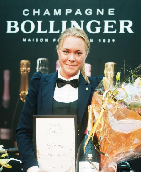 Maya Samuelsson blev Sveriges bästa kvinnliga sommelière