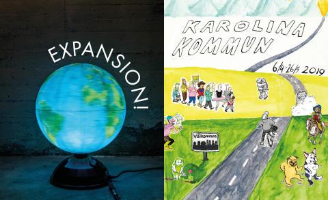 Pressinbjudan - Curerad ung samtidskonst och serier av Karolina Bång  visas på Kulturcentrum i Ronneby