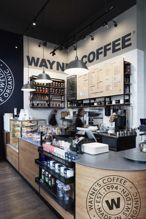 Waynes Coffee kafe koncept