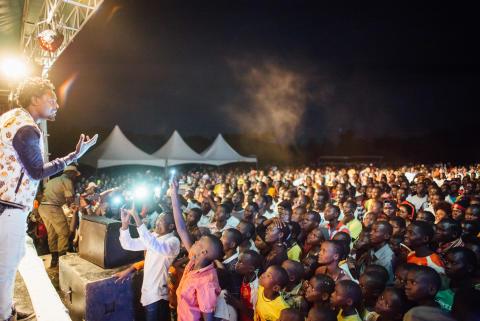 WE LOVE YOUGANDA: Maro from Uganda performing in Moroto at the #weloveyouganda festival