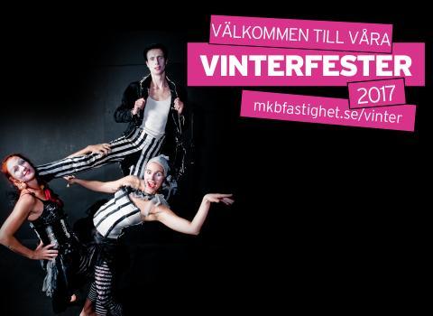 Vinterfest med Cirkus Saga och MKB på Nydalatorget