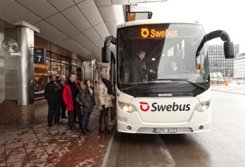 Swebus kör specialturer till helgens mässor om resor och sport på Elmia - och resenärerna bjuds på inträdet