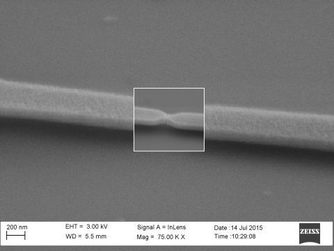 Så här ser en nanospricka ut.