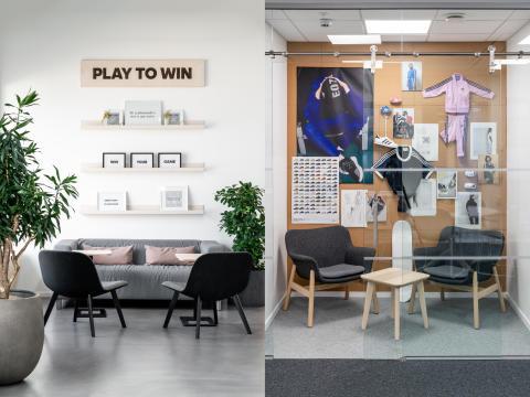 adidas Nordic väljer återbruk nya kontoret