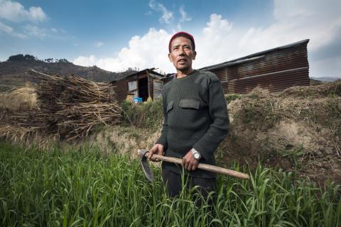 I byarna har verktygslådor delats ut som både innehåller jordbruksredskap och vanliga verktyg. Familjerna turas om att använda dem. Gopal Tamang vill att hans nästa hus ska klara en jordbävning.