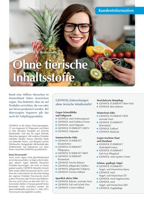 Ohne tierische Inhaltsstoffe: Vegane GEHWOL-Rezepturen