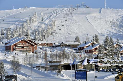 Vi bor med udsigt til skiløb i Sverige