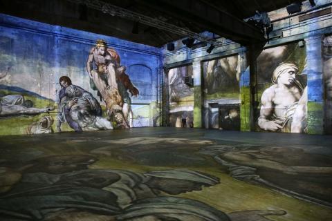 """Blick in die Ausstellung """"Leonardo da Vinci- Raffael- Michelangelo. Giganten der Renaissance"""" (4)"""