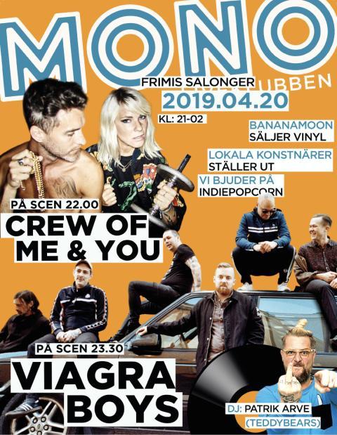 Klubb Mono: Viagra Boys + The Crew Of Me & You den 20/4 på Frimis Salonger!