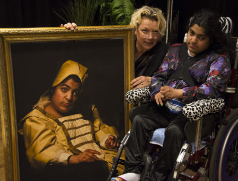 Elisabeth Ohlson Wallin ställer ut porträtten som aldrig blev målade