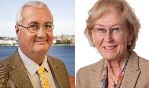 Sten Nordin och Helena Bonnier