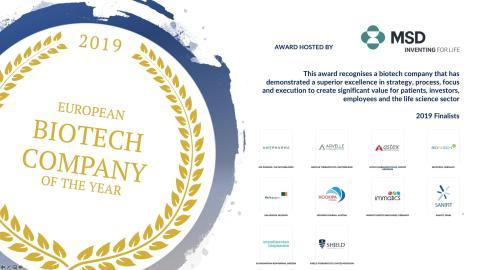 """Vi är nominerade till """"Biotech company of the year"""""""