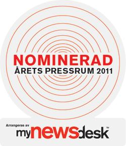 SEKAB nominated for the Year 2011 press room