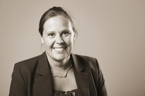 Martina Henriksson, Säkra Stenstaden AB, talesperson för försäkringar beträffande Skotta säkert
