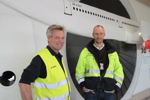 Jan Rosenberg, Swedavia, och Mikael Thörner, Siemens