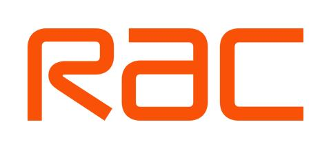 RAC logo 2019 on a white background