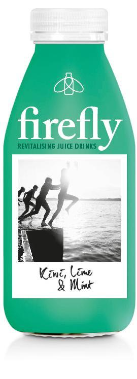 Firefly PET Kiwi, Lime & Mint, 400 ml