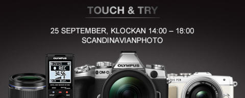 Olympus har Touch & Try hos ScandinavianPhoto i Mölndal