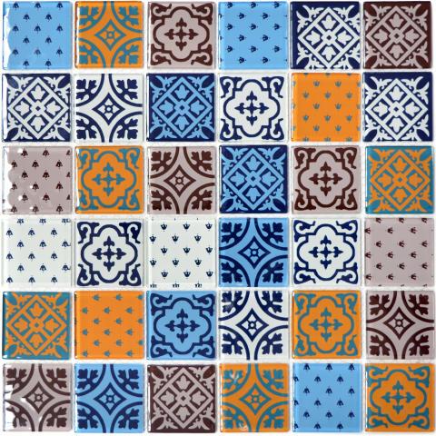 Mosaik Eventyr Kejserens Nye Klæder Mix 30x30, 548 kr. M2.