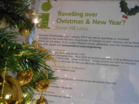 Plan Ahead for Christmas Rail Travel