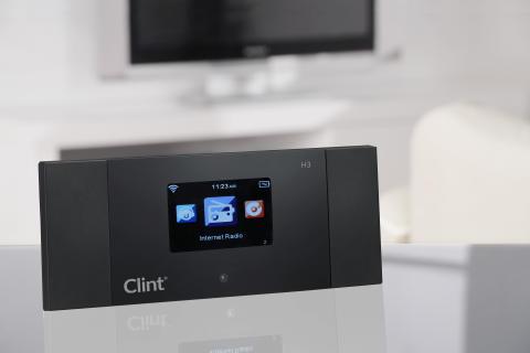 Med Clint H3 (Radio- och streamingadaptern) kopplad till HiFi-systemet så får du tillgång till den senaste musikstreaming-teknologin (DLNA).