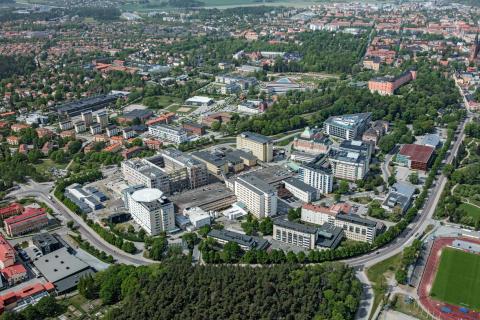 Flygbild Akademiska sjukhuset 2017